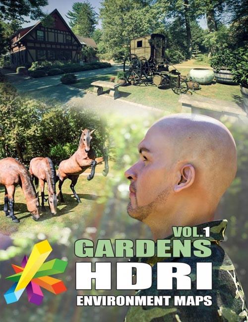 MEC4D HDRI Gardens Vol.1 - Megapack
