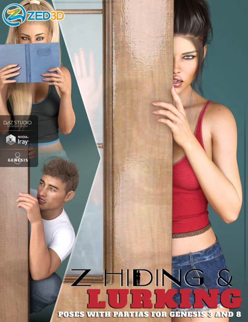 Z Utility Hiding and Lurking Poses and Partials for Genesis 3 and 8