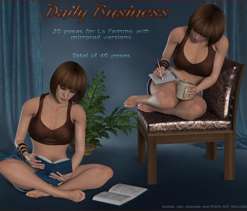 Daily Business Poses for La Femme