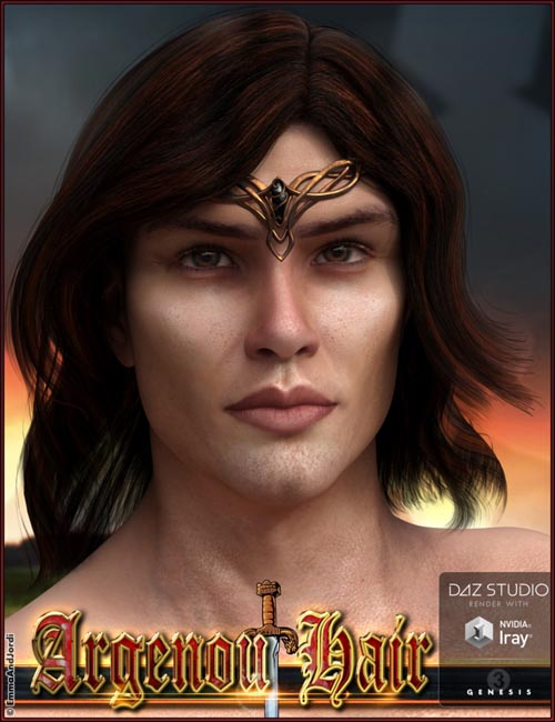 Argenou Hair for Genesis 3 Male(s)