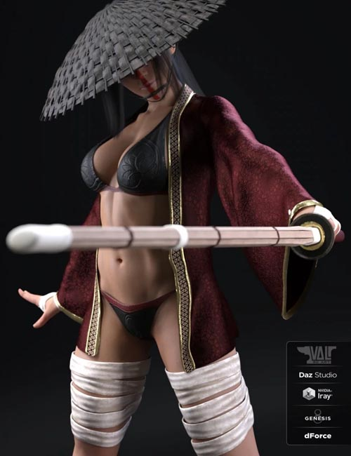 dForce Ren Outfit for Genesis 8 Female(s)