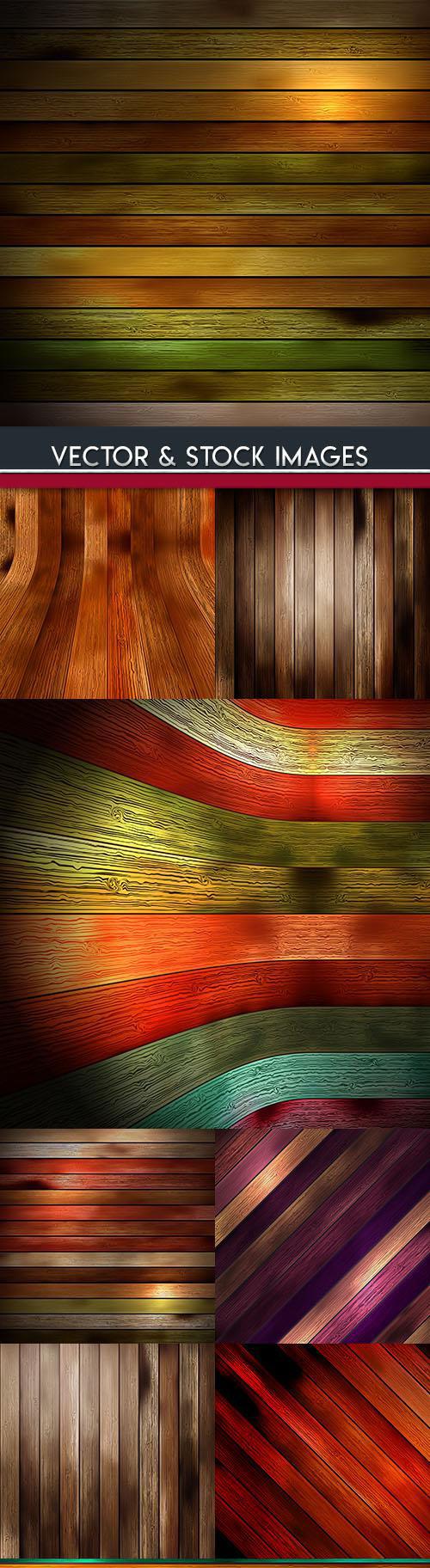 Wooden boards design color backgrounds