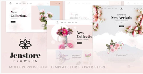 JenStore | Multi-Purpose HTML Template for Flower Store