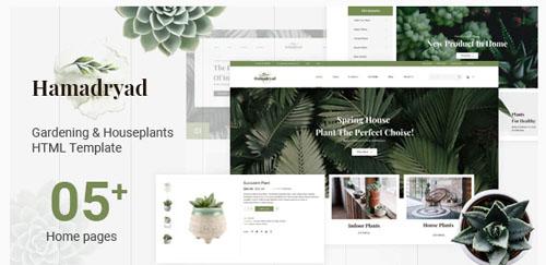 Hamadryad - Gardening & Houseplants HTML Template
