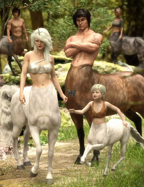CC Centaur Breeds for Genesis 8 Male and Female Centaur