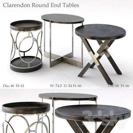 Bernhardt Clarendon Round End Tables