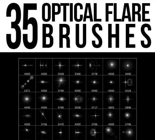 35 Optical Flare Brushes - 5553256