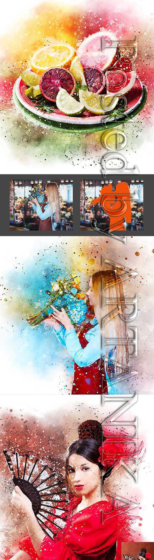 Mixed Art Painting Photoshop Action 23646288
