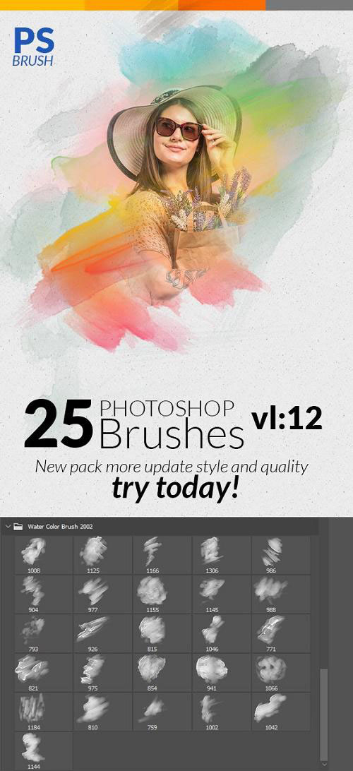 Watercolor Photoshop Brushes 24297905