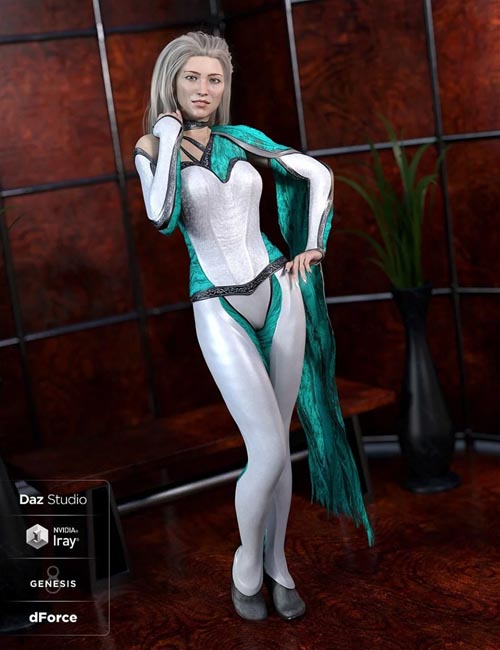dForce Mosaic Outfit Addon for Genesis 8 Female(s)