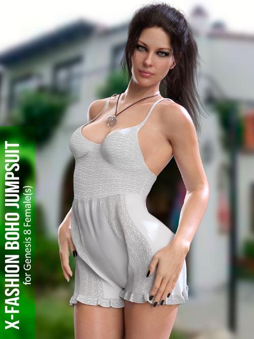 X-Fashion Boho Jumpsuit for Genesis 8 Females