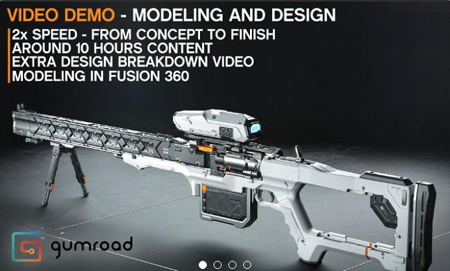 Gumroad - Sniper Design Demo in Fusion 360