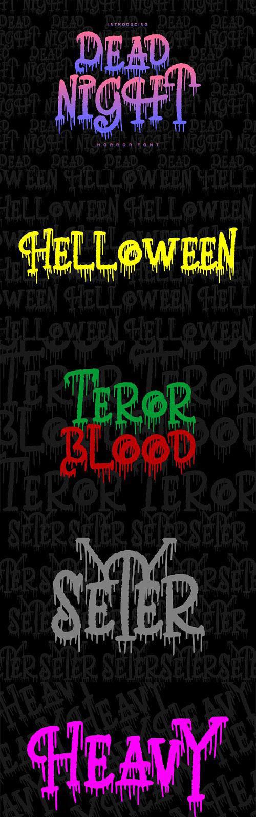 Dead Night | Horror Font