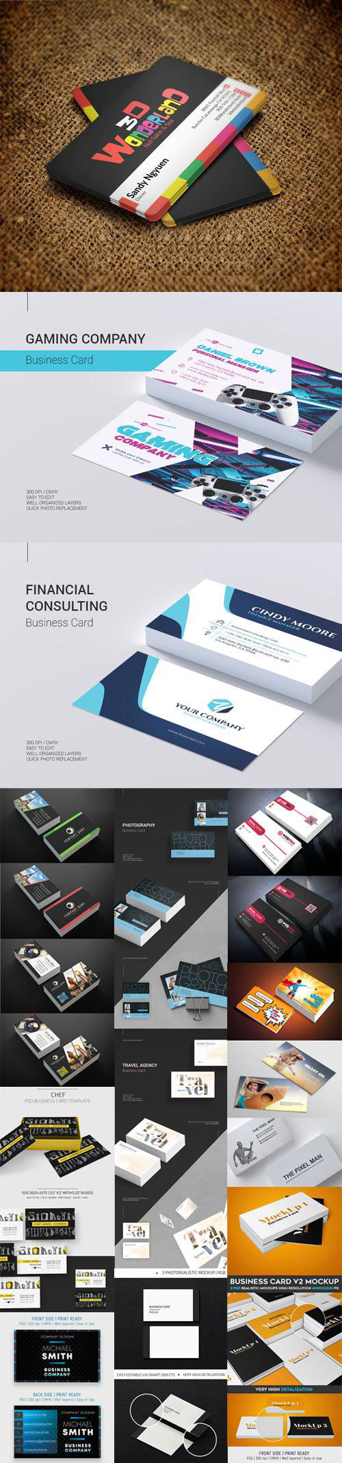23+ Modern Business Card PSD Mockups Collection