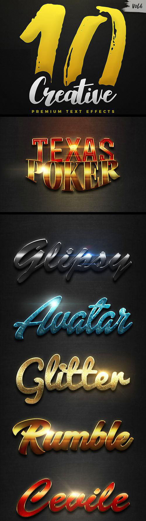 10 Glowing Text Effets with Carbon Texture