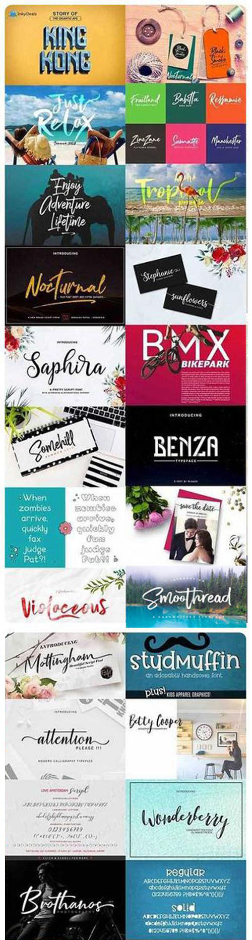 Mega Collection Fonts - 15 Fonts