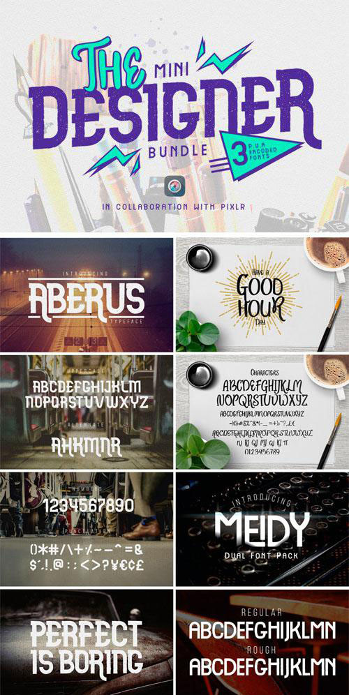 The Mini Designer Fonts Bundle