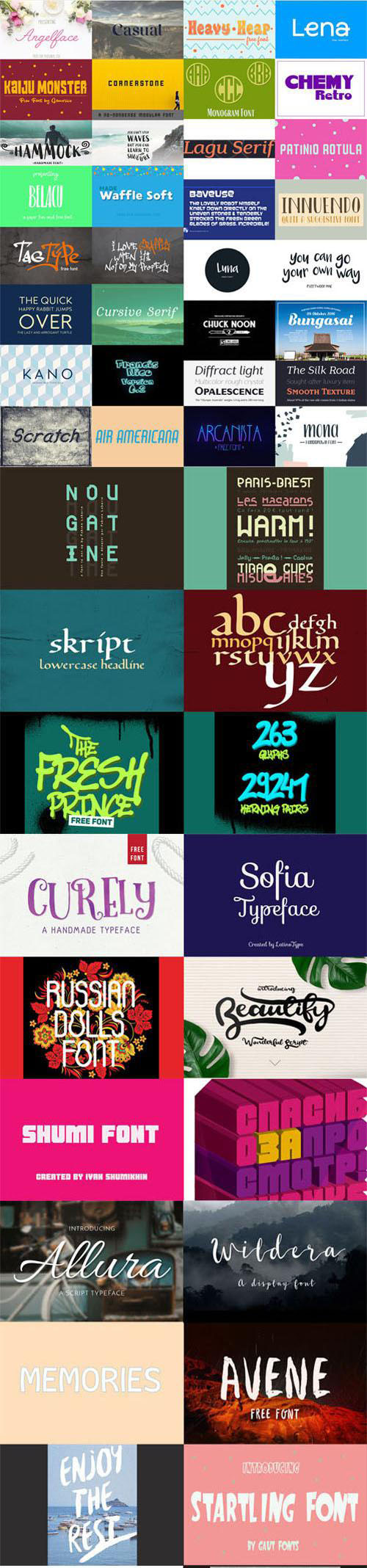 TheHungryJPEG - Best New 46 Fonts Collection
