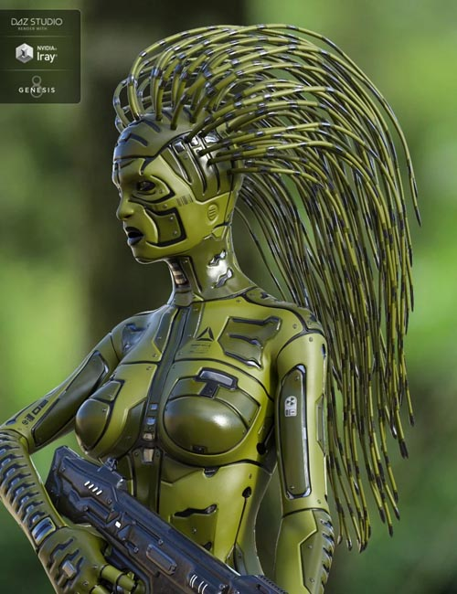 Cyber Hair for Genesis 8 Female(s)