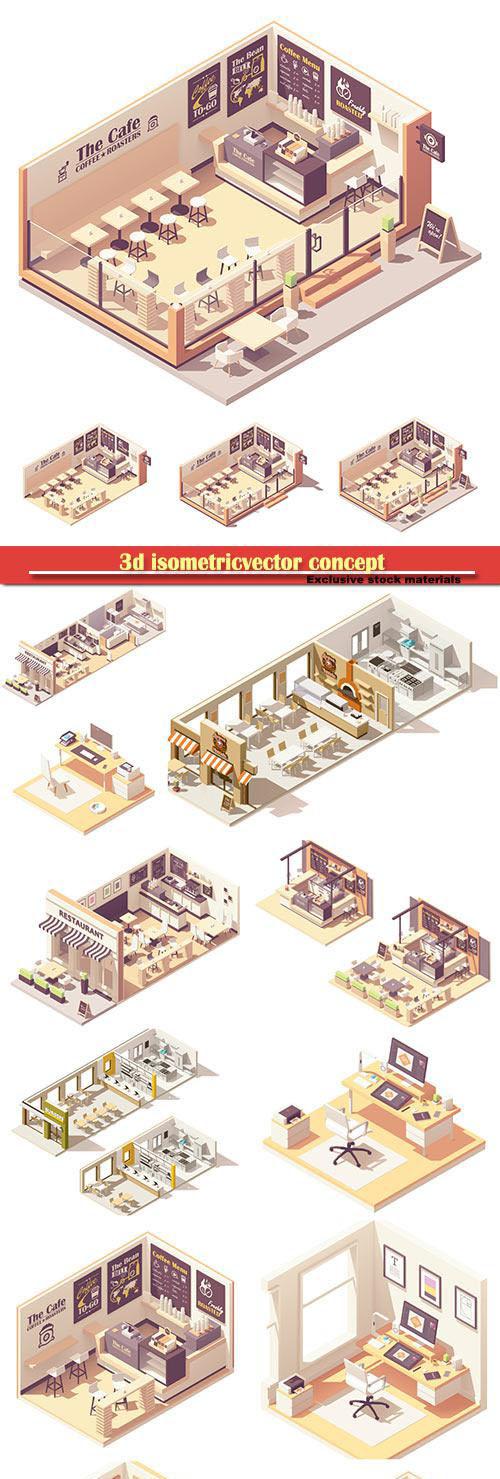 3d isometricvector concept # 2