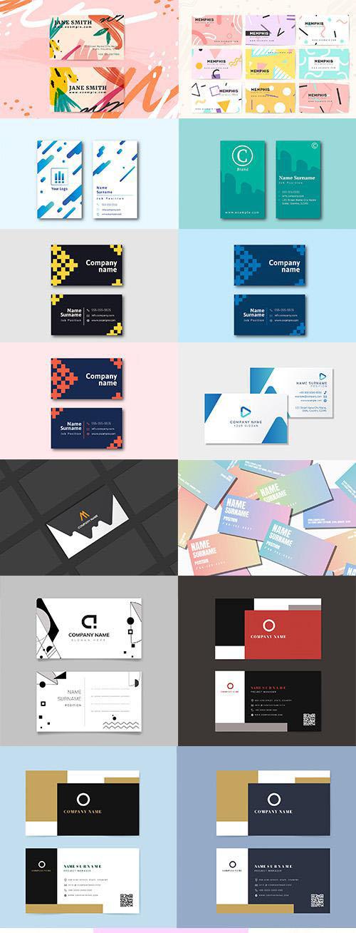 Professional Business Card Templates set vol6