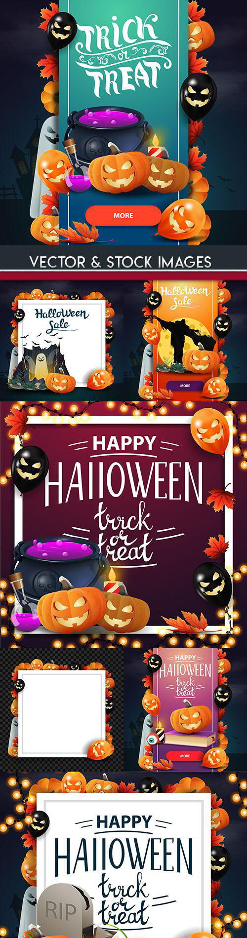 Happy Halloween holiday illustration collection 29