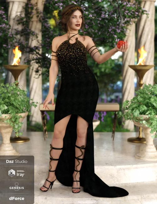 dForce Serpent Whisperer Outfit for Genesis 8 Female(s)