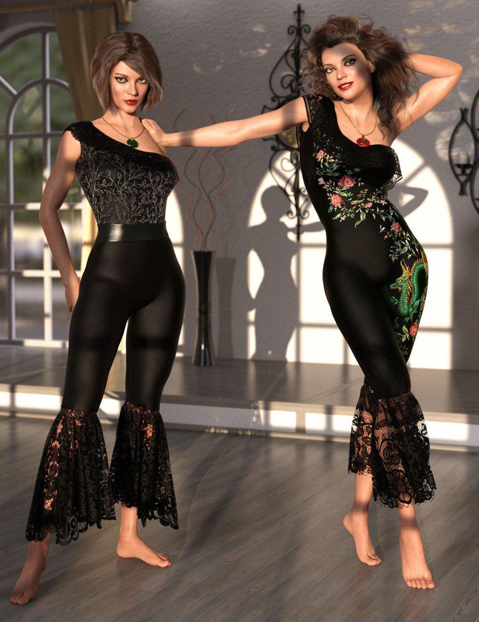 dForce Le Fashion Bodysuit for Genesis 8 Female(s)