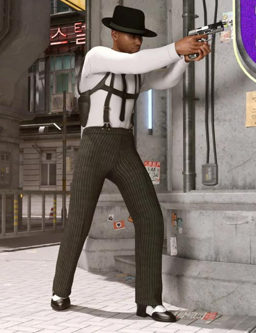 dForce Sleuth Detective Outfit for Genesis 8 Male(s)