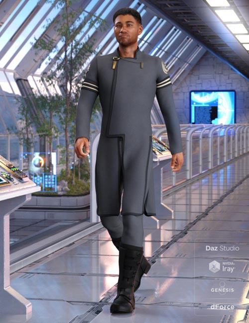 dForce Elite Commander Outfit for Genesis 8 Male(s)