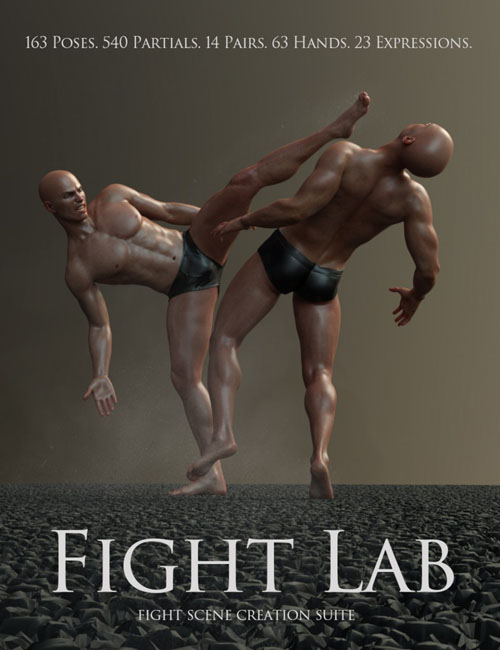 Fight Lab: Poses and Expressions for Genesis 8 Male