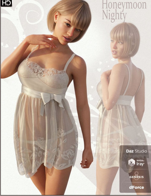 FGHM Nighty & Panty For Genesis 8 Female(s)