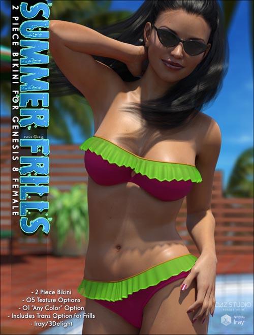 Summer Frills Bikini Genesis 8 Female