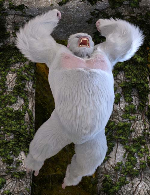 White King Poses for Gorilla for Genesis 8 Male