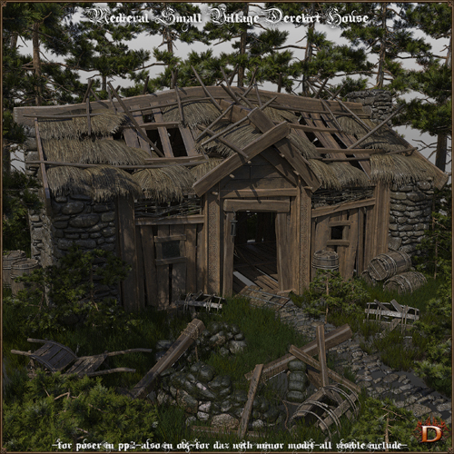 Medieval Small Village Derelict House