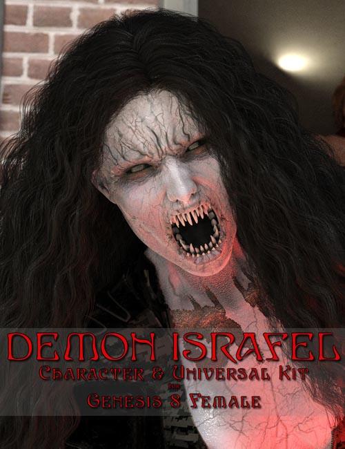 Demon Israfel Character & Universal Kit for Genesis 8 Female