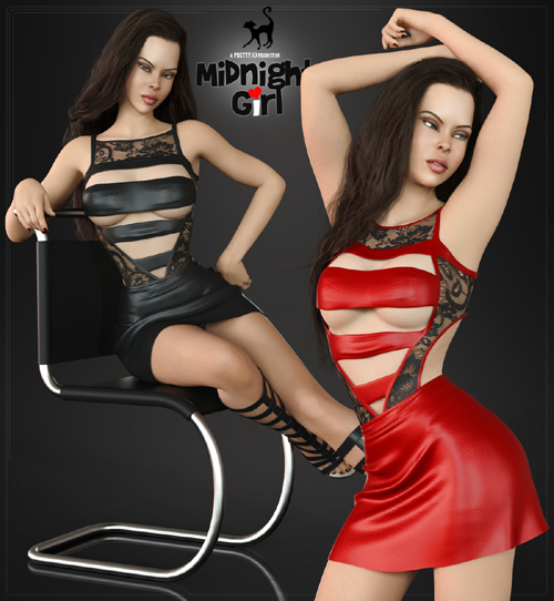 Midnight Girl Clothing Set for Genesis 8 Females