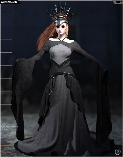 dForce October Gown for Genesis 8 Females