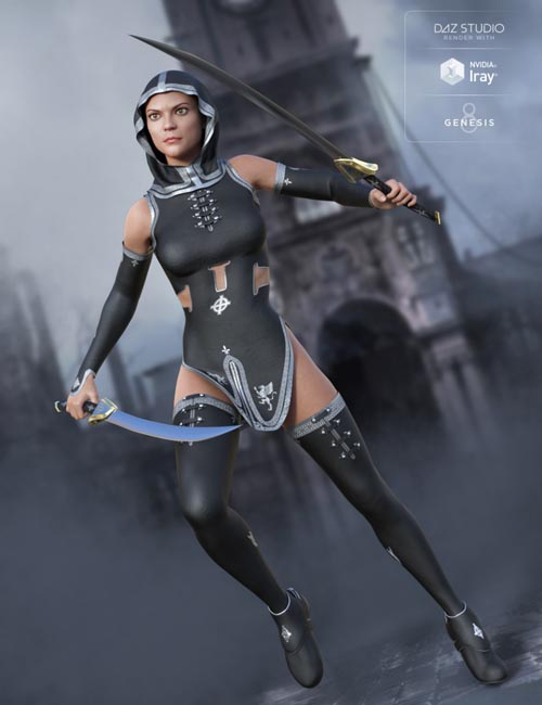 Templar Huntress Outfit for Genesis 8 Female(s)