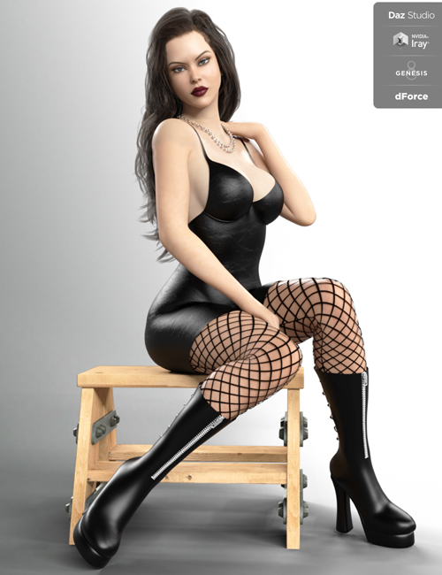 Sexy Leather for Genesis 8 Females for dForce