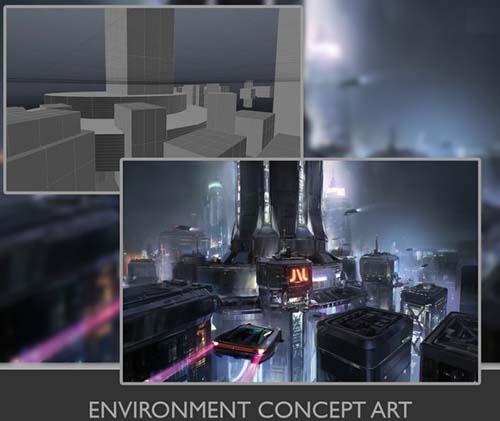 Gumroad - Environment Concept Art: Cityscape