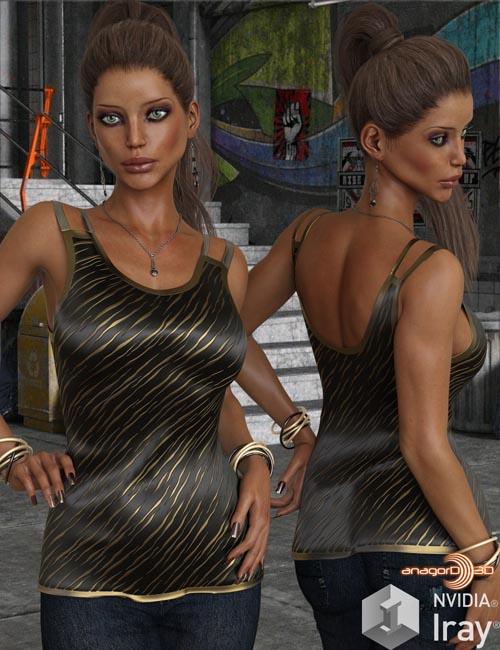 VERSUS - Split Holder Shirt for Genesis 8 Female(s)