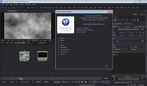 Blackmagic Design Fusion Studio 16.1 Build 18 Win