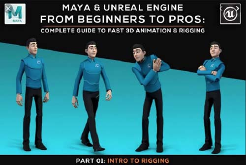 Skillshare - Maya and Unreal Engine | Complete Guide to Fast 3D Animation and Rigging Part 1 to 5