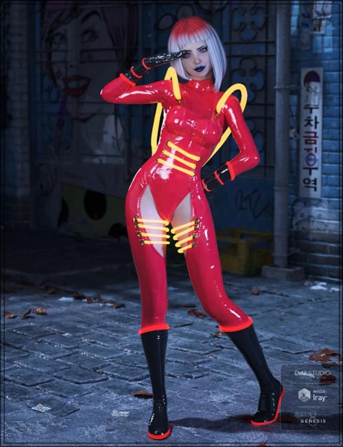 Cyber Neon Catsuit for Genesis 8 Female(s)