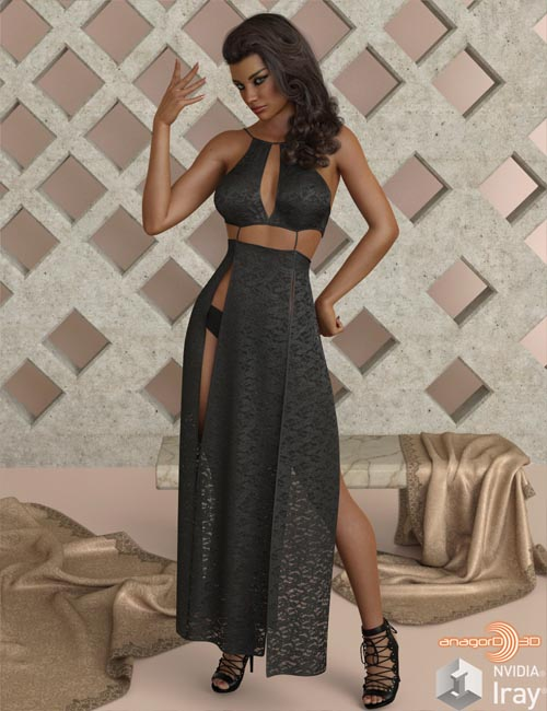 VERSUS - dForce Sexy Loin Dress 4 for Genesis 8 Females