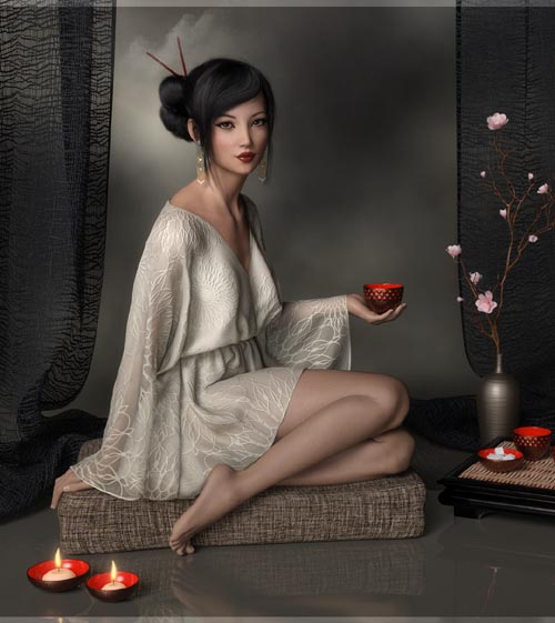 Kirei Kaze Props & Poses for Genesis 8 Females