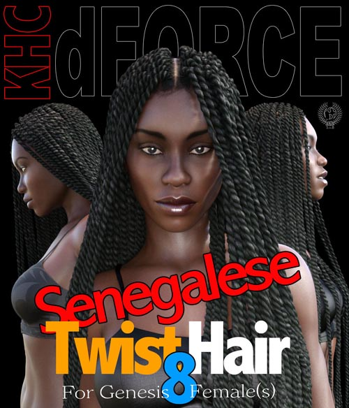 Senegalese Twist Hair For Genesis 8 Females