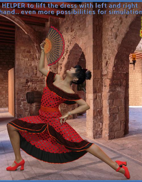 dForce Flirty Flamenco Suit for Genesis 8 and Genesis 3 Female