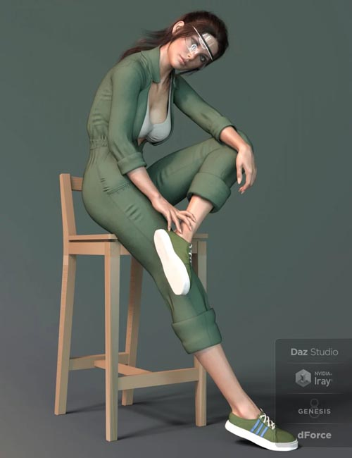 X-Fashion Uniform 02 for Genesis 8 Female(s)